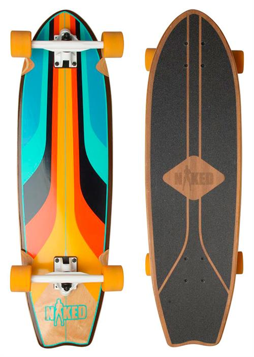 Naked Los Angeles Bamboo Longboard