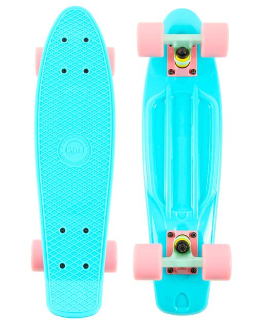 Naked Organic Lightblue Deluxe Skateboard