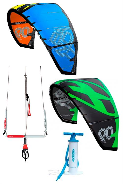 F-one Bandit 2015 serie 9 og 12m kites + 1 bar