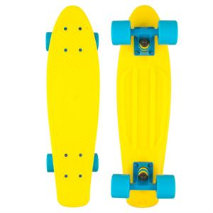 Naked Fluorescent Yellow Deluxe Skateboard