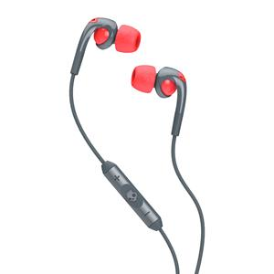 Skullcandy Fix in Ear  w. mic - Gray/Hot Red
