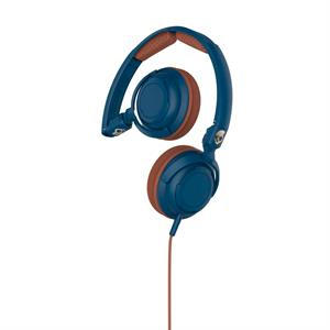 Skullcandy Lowrider w. mic - Navy/Brown