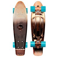 Penny Metallic Rose Gold Skateboard 22""